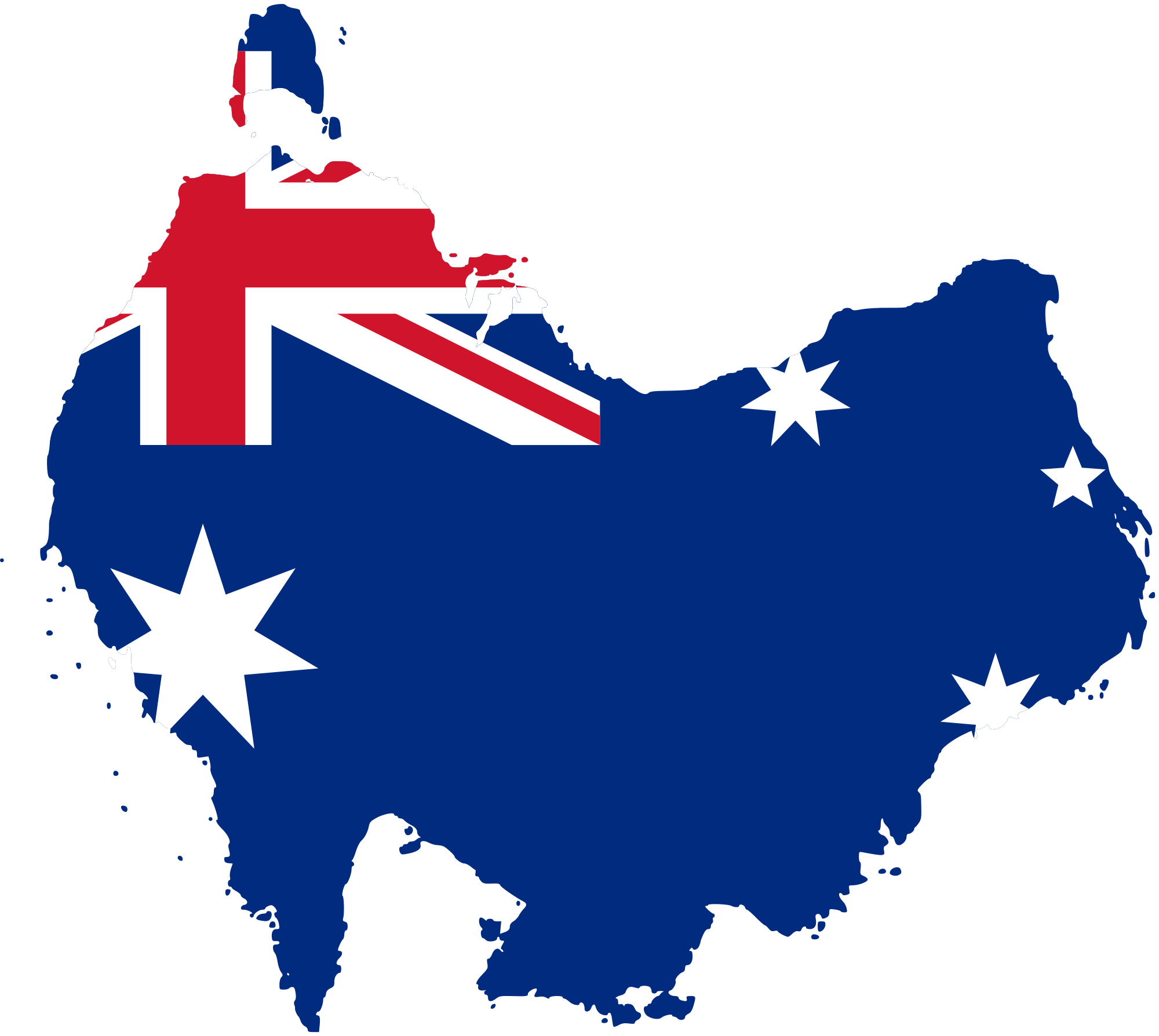 Australia Flag Map Png 3 Png Image