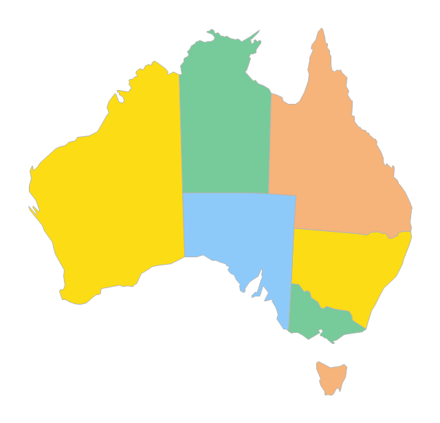 Map Of States Of Australia.Australia Map States Png 6 Png Image