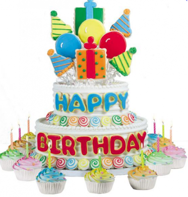 Birthday Balloons And Cake Png 1 Png Image