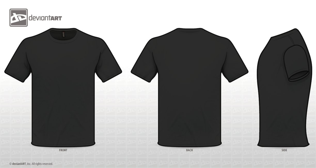 Black T Shirt Template Png 6 Png Image