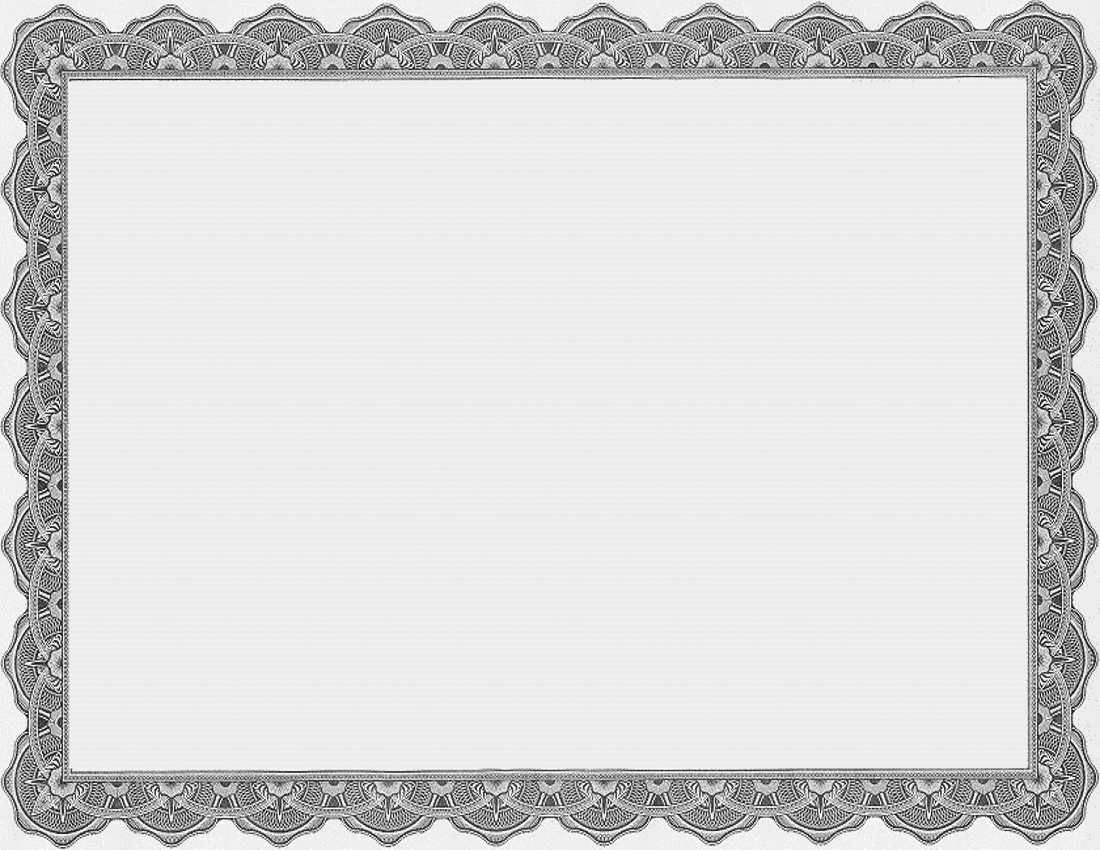 Certificate Template Page Frames School Certificate Template With