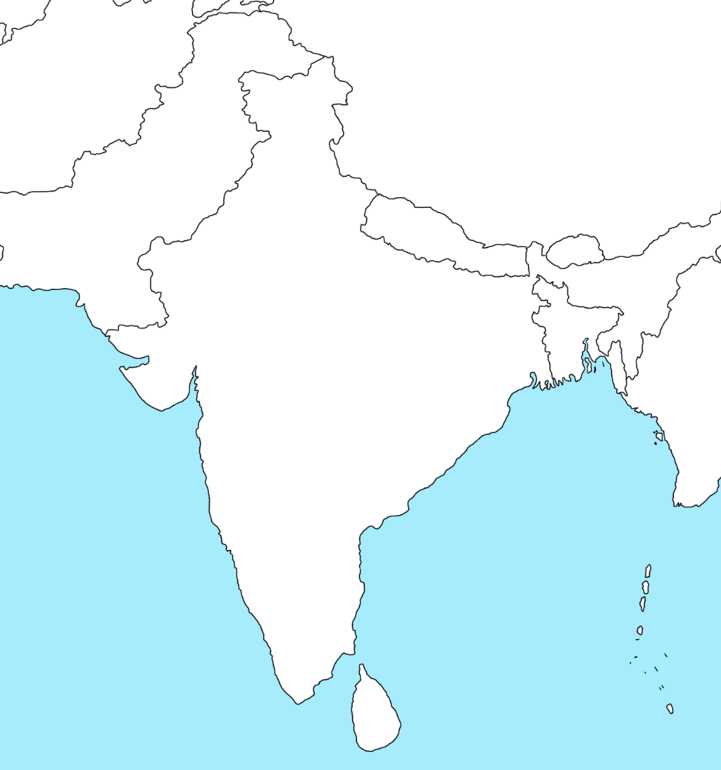 Blank map of india png 5 » PNG Image