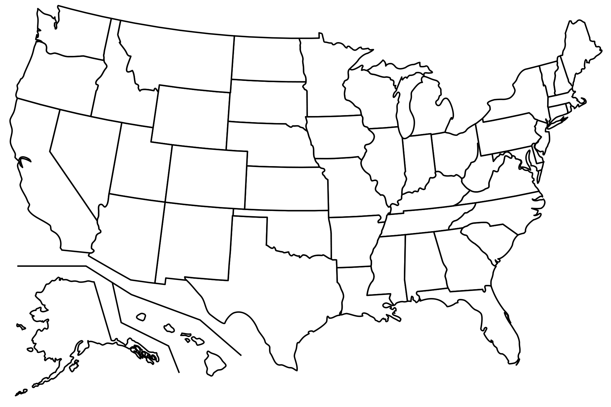 Blank map of usa png 4 » PNG Image