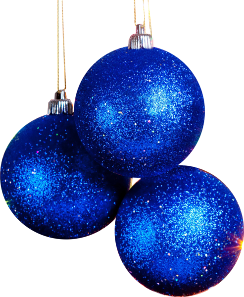 blue christmas ornament png 2