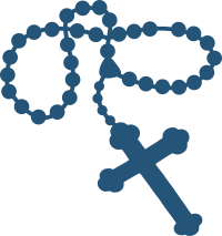 Blue rosary png 1 » PNG Image