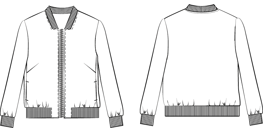 bomber jacket template png 2 png image