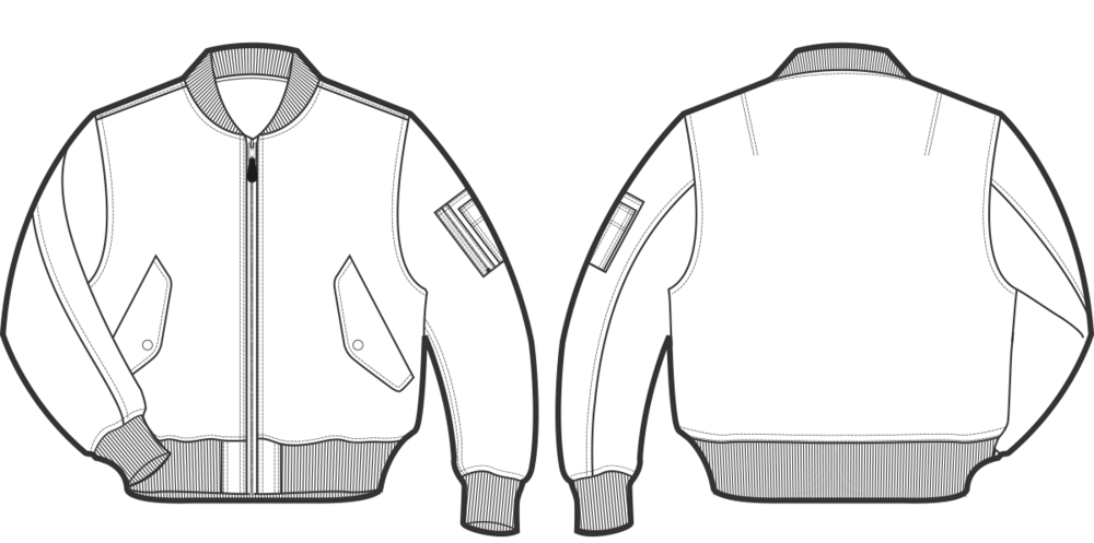 bomber jacket template png 5 png image