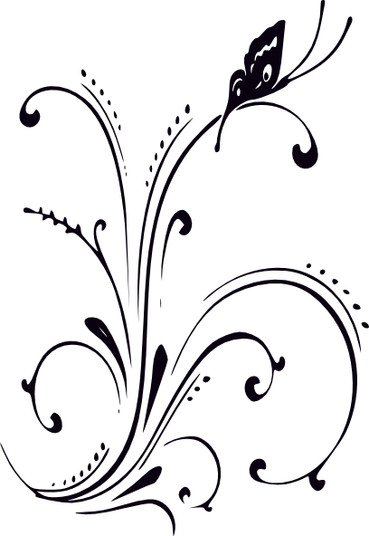 Butterfly Clipart Png Black And White 3 Png Image