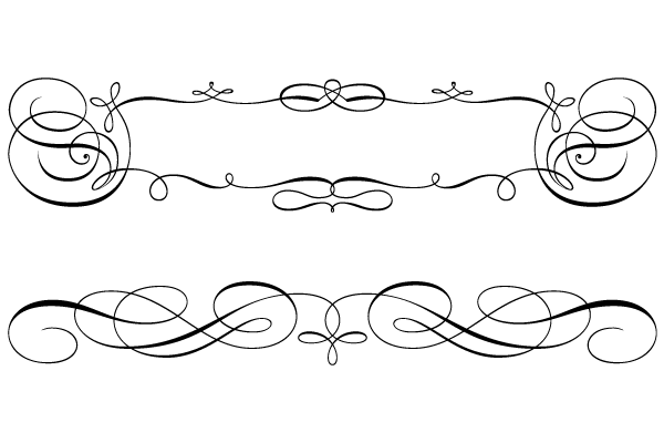 Calligraphic Borders Png PNG Image