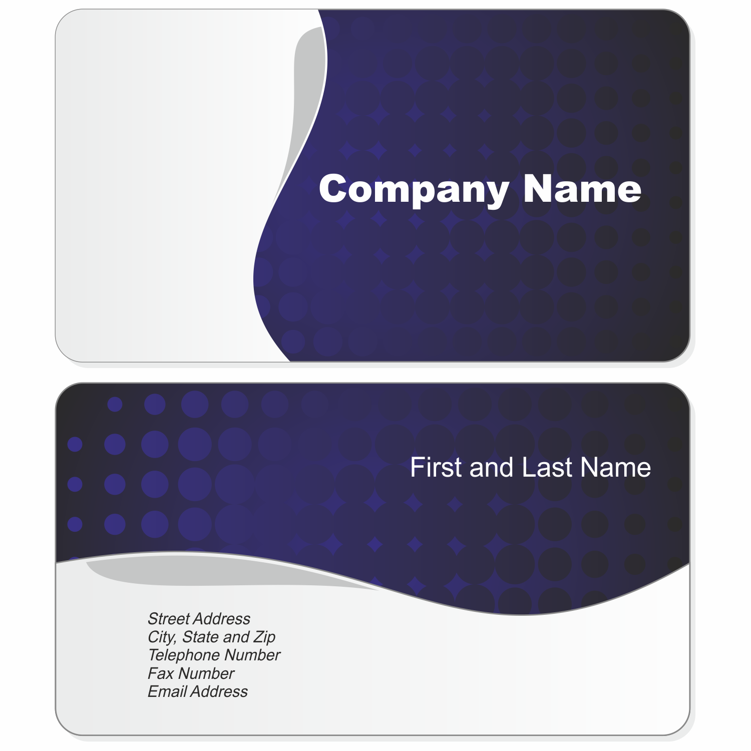 Calling Card Template Png 7 Png Image
