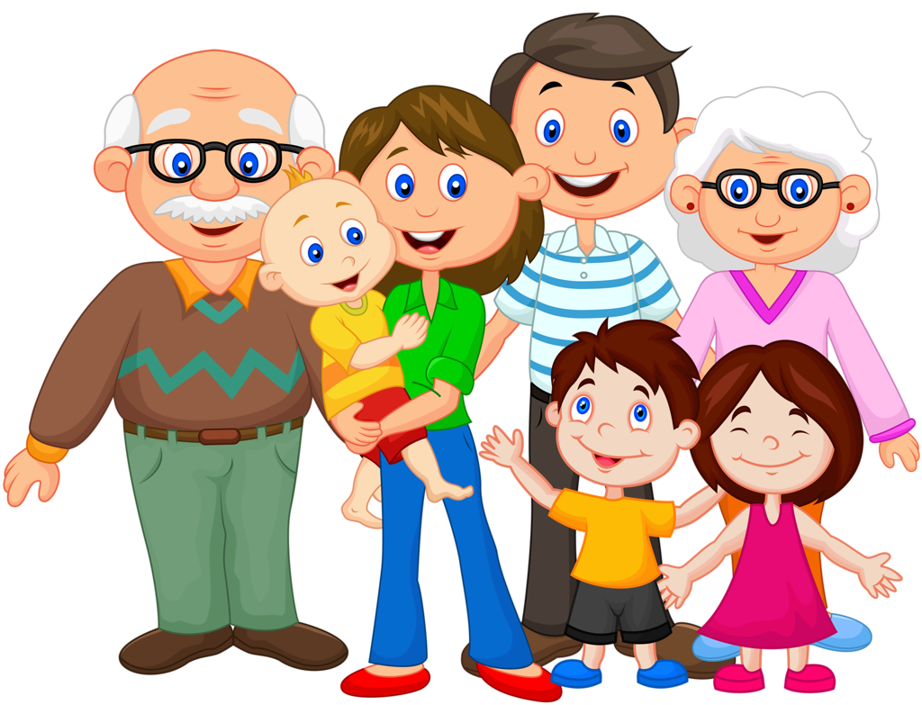 Image My Famly Png: Cartoon Family Png » PNG Image