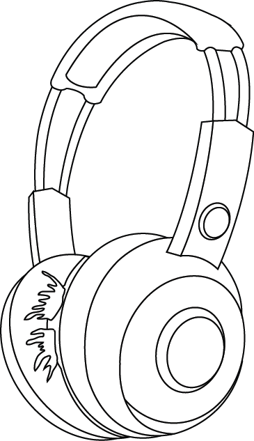 Casque Audio Dessin Png 4 Png Image
