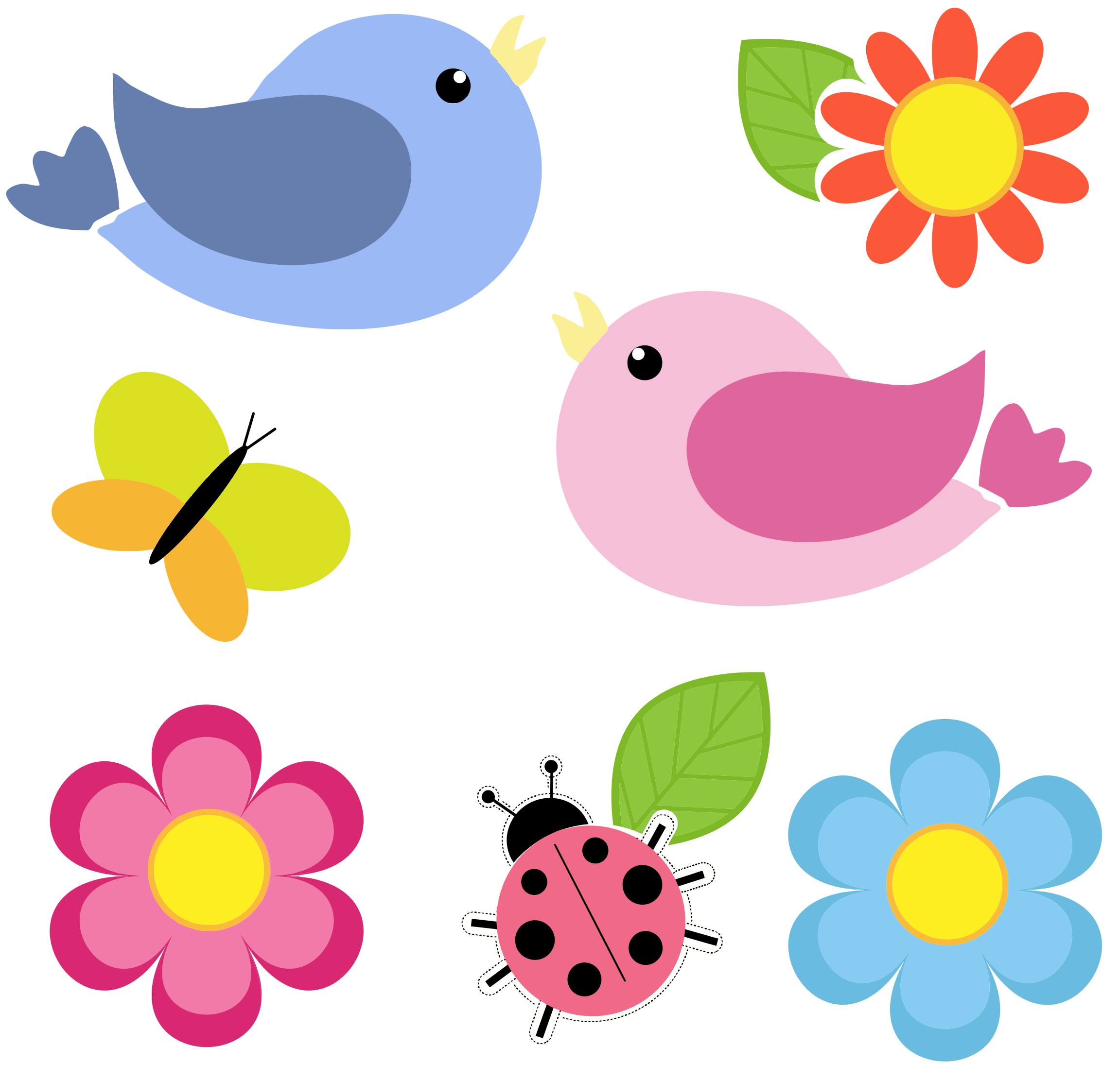 Clipart Flowers And Butterflies Png 3 Png Image