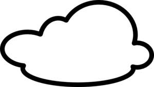 cloud black and white png 1