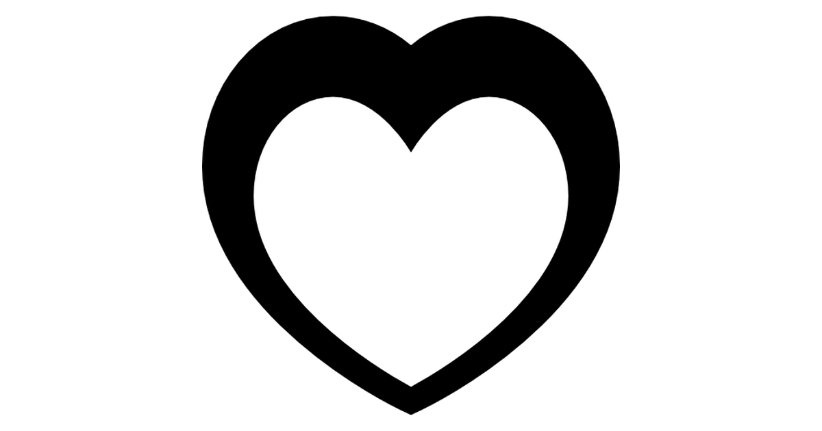 Corazon Blanco Y Negro Png 2 Png Image