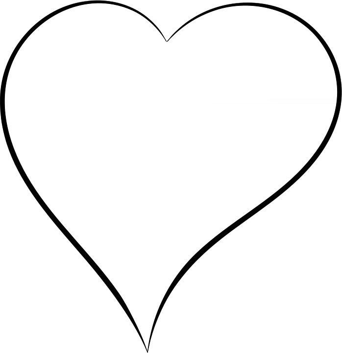 Corazon Blanco Y Negro Png 3 Png Image