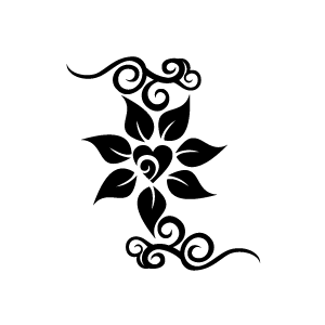 Design Black And White Art Flower Png 4 Png Image