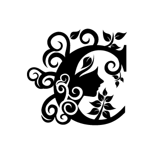Design Black And White Art Flower Png 5 Png Image