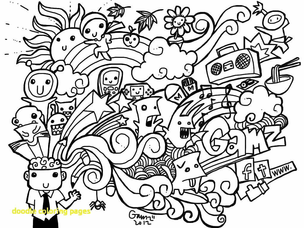 Free Printable Doodle Art Coloring Pages Doodle Art Coloring Pages ...