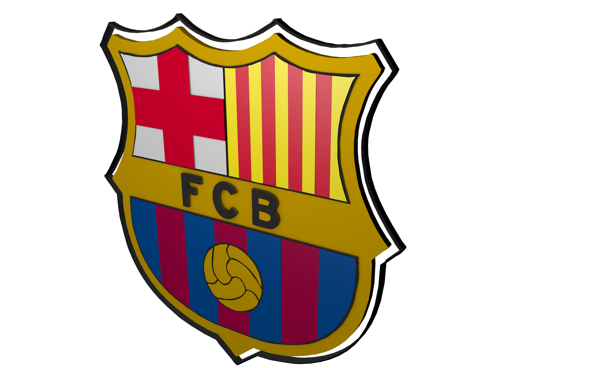 Escudo Barcelona 3d Png 2 Png Image