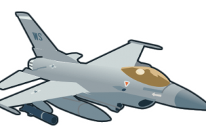 f 16 fly png 3