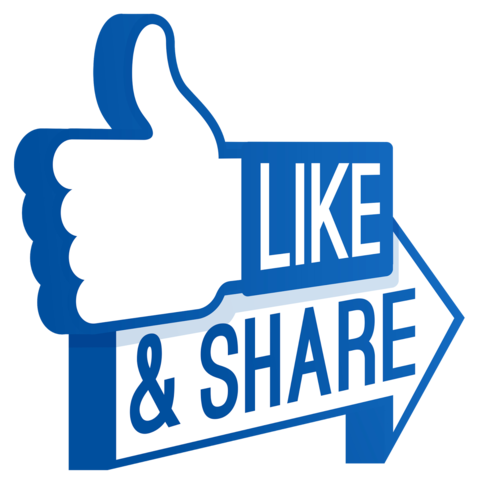 facebook like share png 3 png image