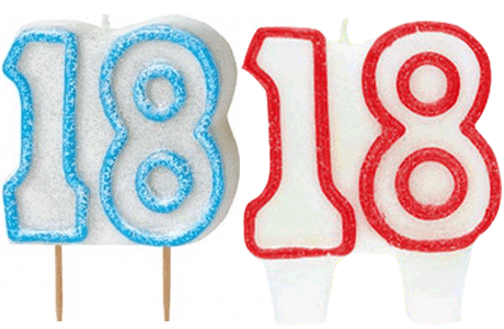 18 Candles Png 3