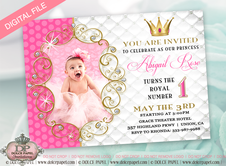 1st Birthday Invitation Girl Png 5 Png Image