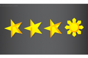 3 star and a sun png 8