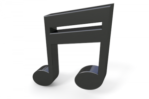 3d music note png 2