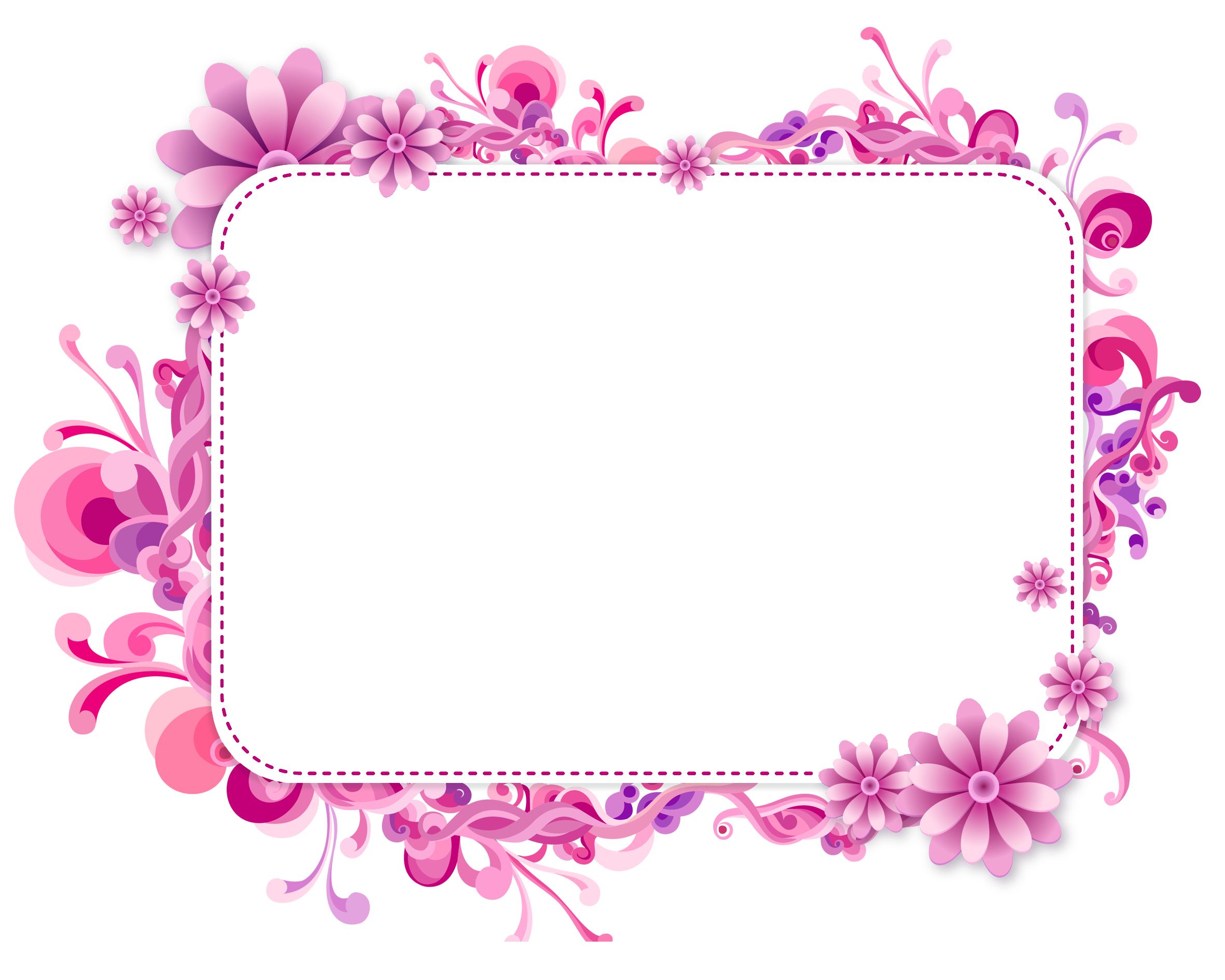 Flower Frame Vector Png