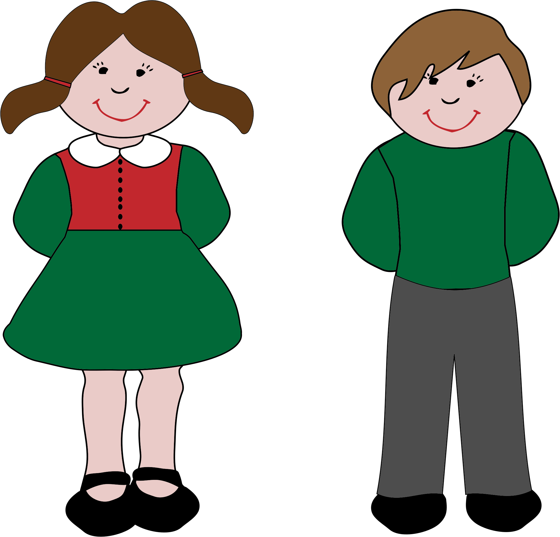 girl and boy clipart png 4