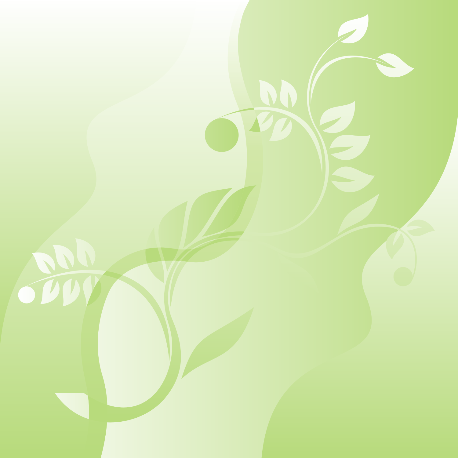 Green Floral Background Png 1 Png Image