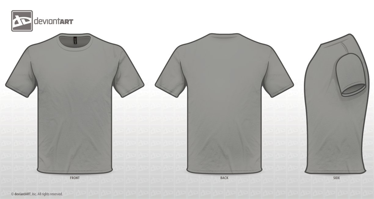 Grey T Shirt Template Png 3 Png Image