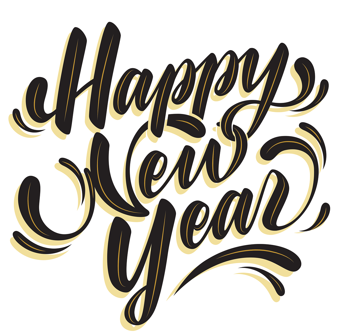 Happy New Year Font 10