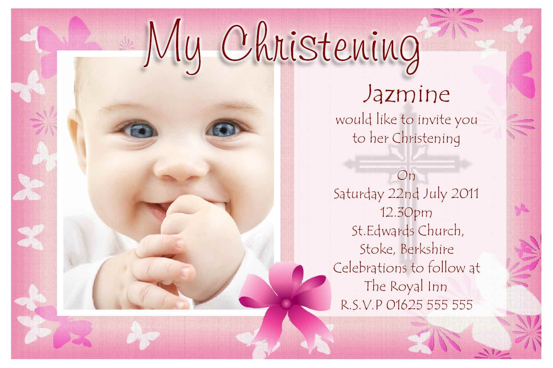 Invitation Card For Christening Background Png 5 Png Image