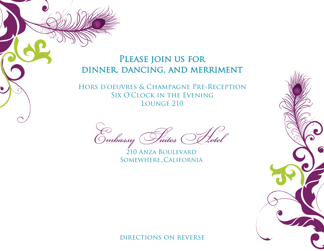 Invitation Card Template Png Png Image