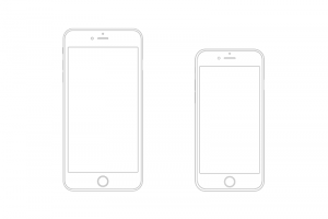 Iphone Wireframe Png 5 PNG Image