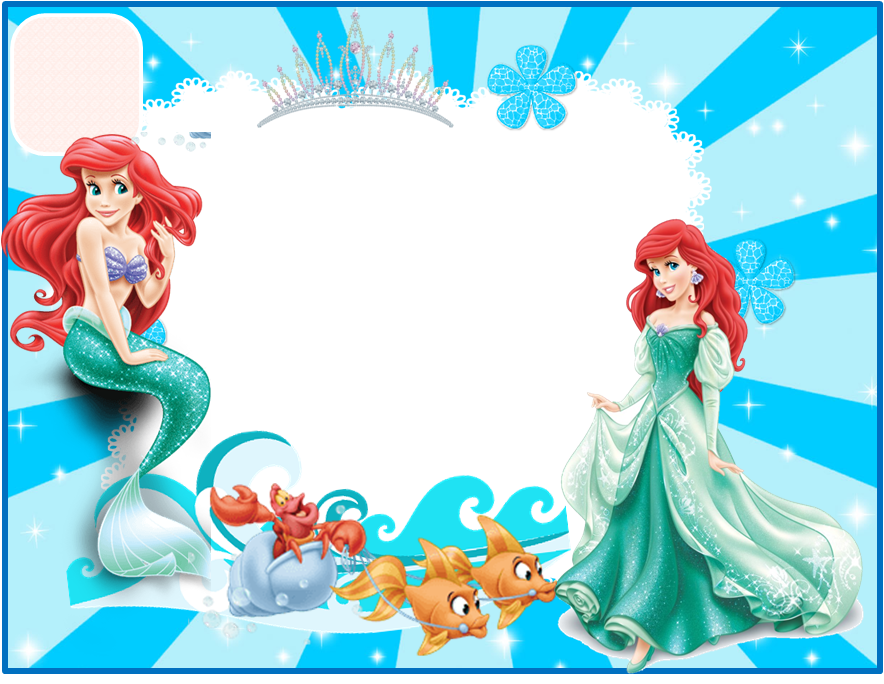 Little Mermaid Frame Png Png Image
