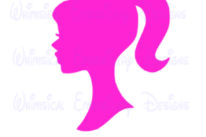 logo barbie head png 1