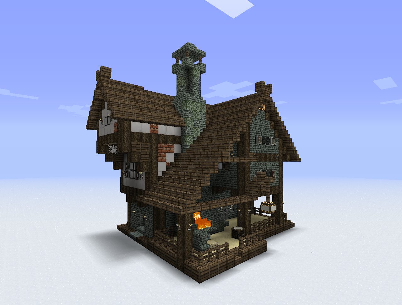Maison Minecraft Png 4 Png Image