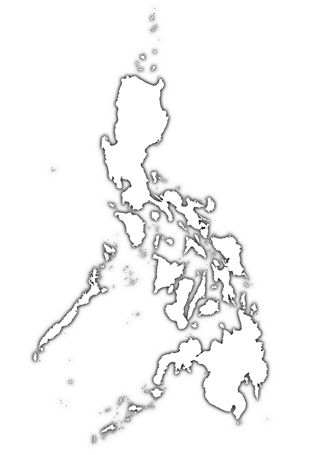 Philippines Map Black And White.Map Of The Philippines Black And White Png Png Image