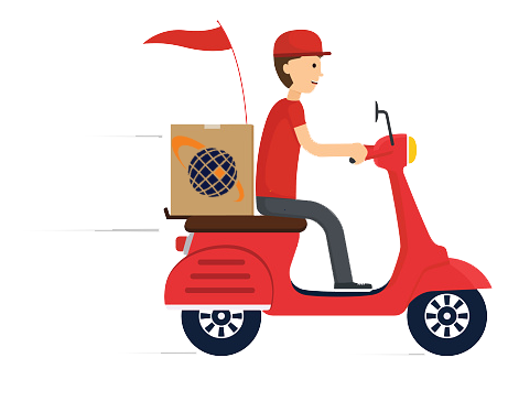 Moto delivery png 6 » PNG Image