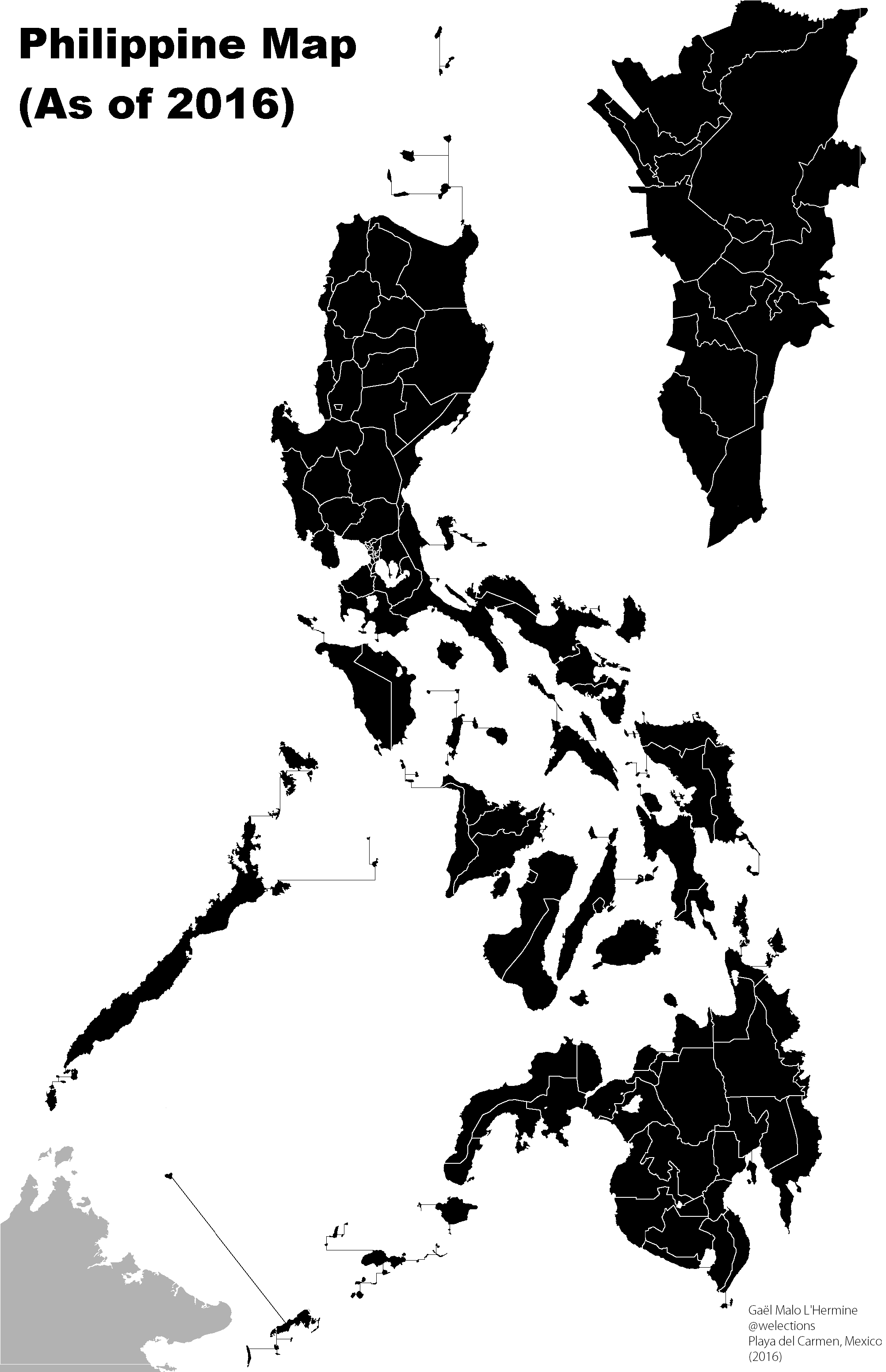 Philippines Map Black And White.Philippines Map Black Png 2 Png Image