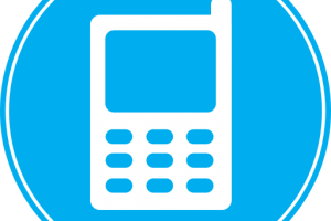 phone png icon blue 7