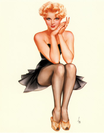 Pin up girl thumbs