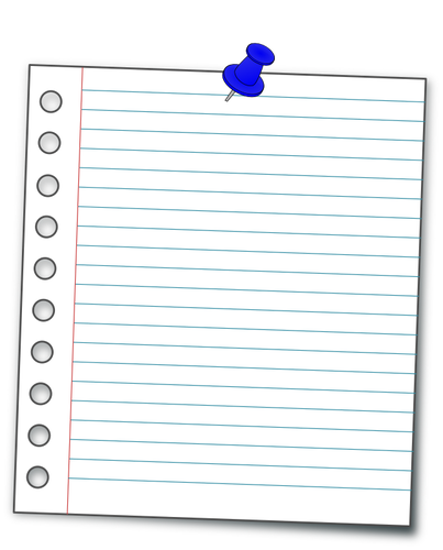 pinned notebook paper png 3