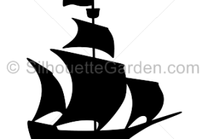 Pirate Ship Silhouette Png