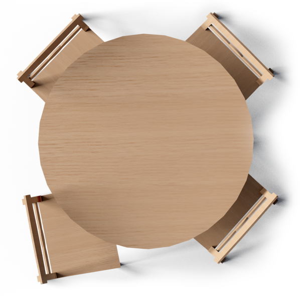 Round Table Top View Png 2