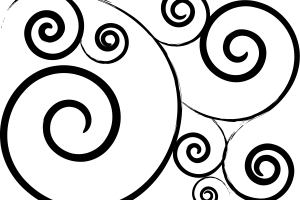 Simple Swirl Design Black And White Png 1 Png Image